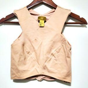 3/$25 H&M Halter Crop Top 4 Pinkish Brown/Beige